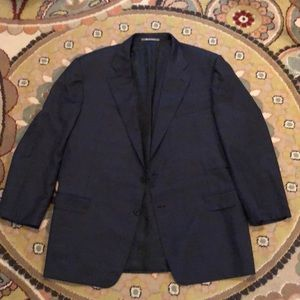 Hickey Freeman Men's Navy Blue Blazer 48R